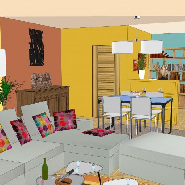 premier projet de guillaume avec sketchup. Black Bedroom Furniture Sets. Home Design Ideas